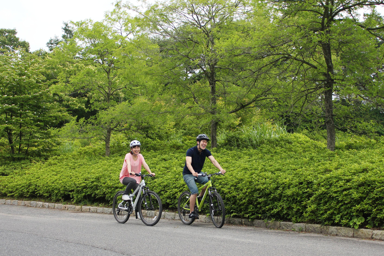 高原の風を感じながら走るサイクリング
