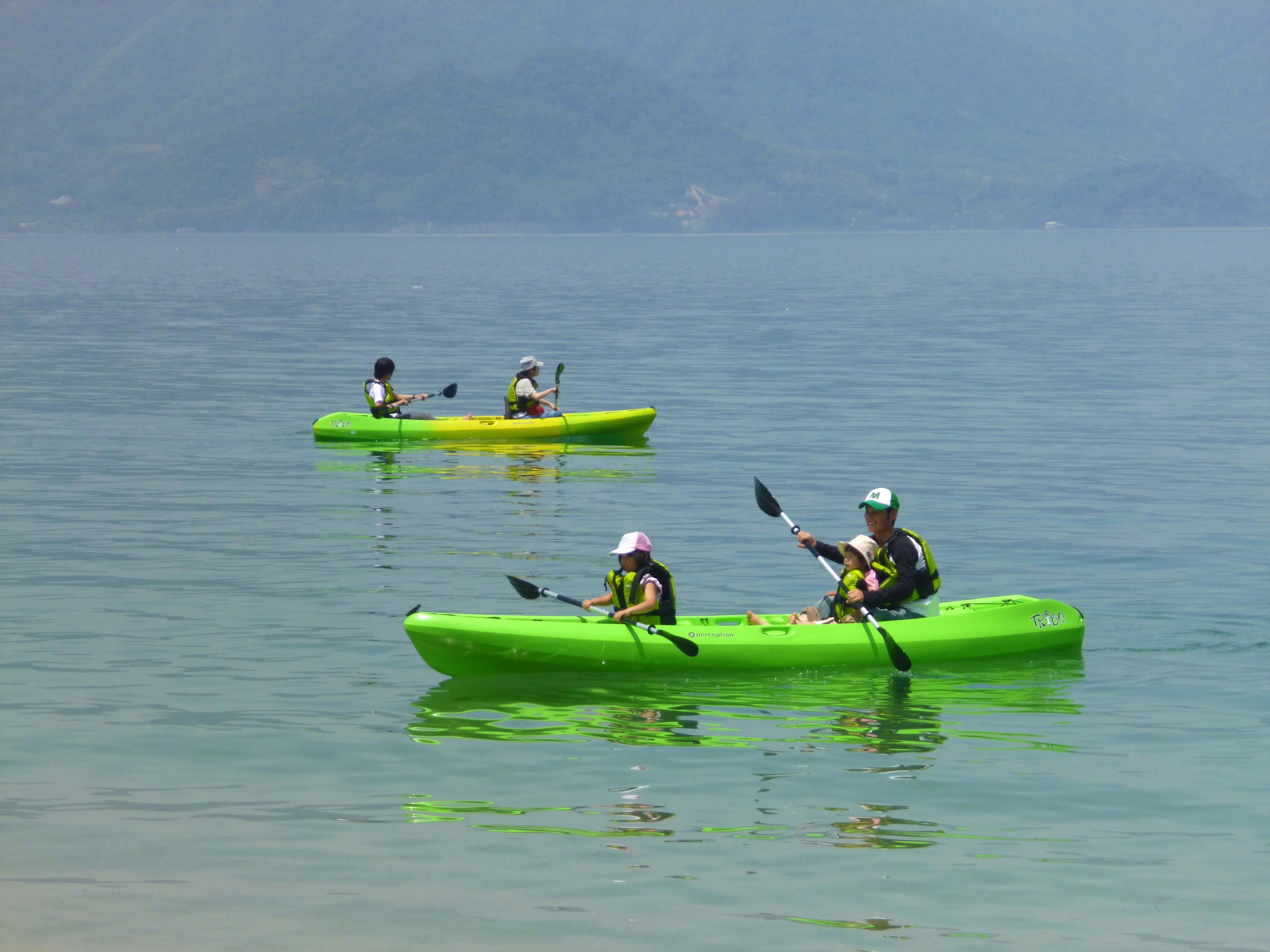 瀬戸内の穏やかな海で楽しむシーカヤック