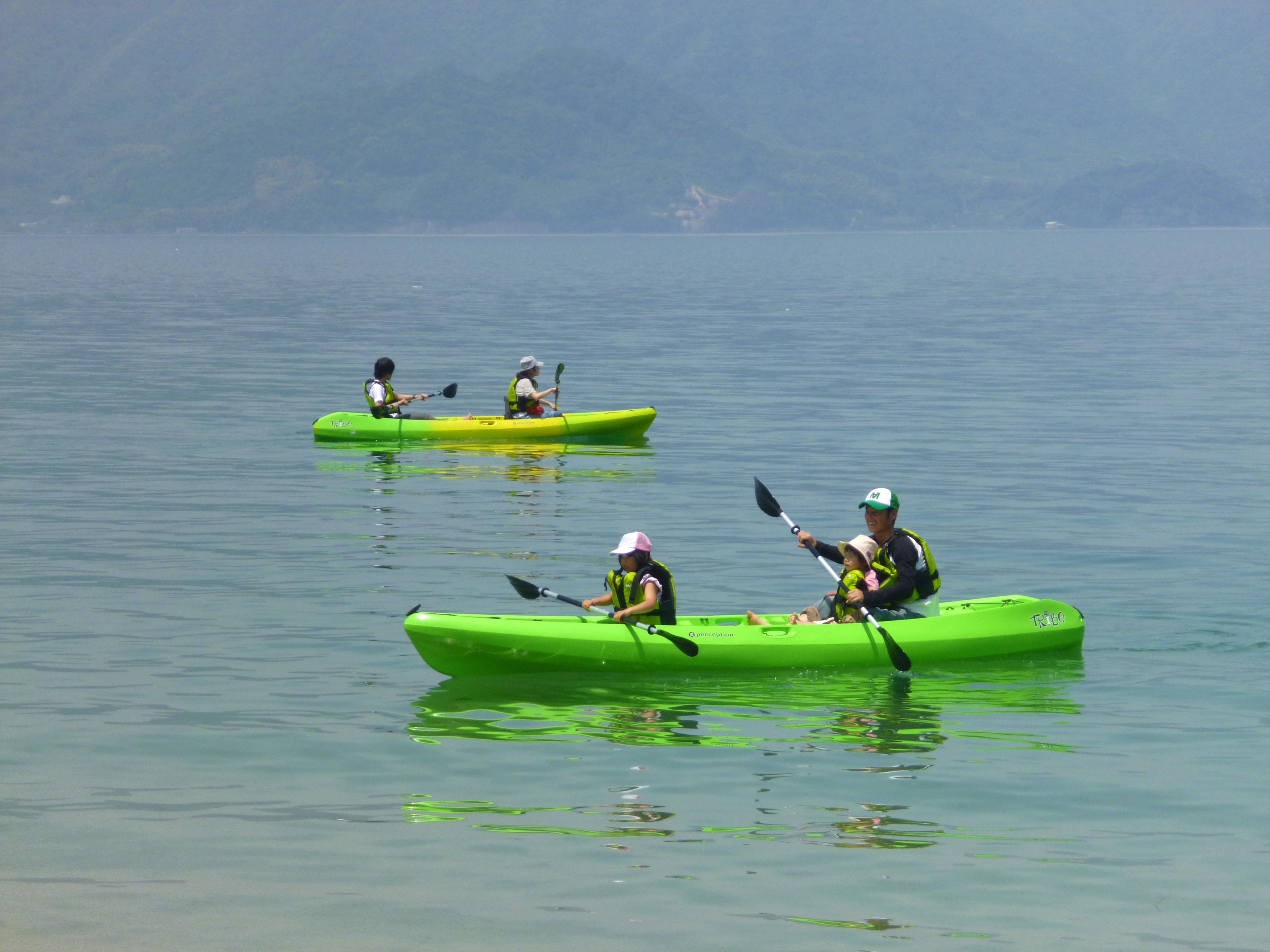瀬戸内の穏やかな海でシーカヤック体験