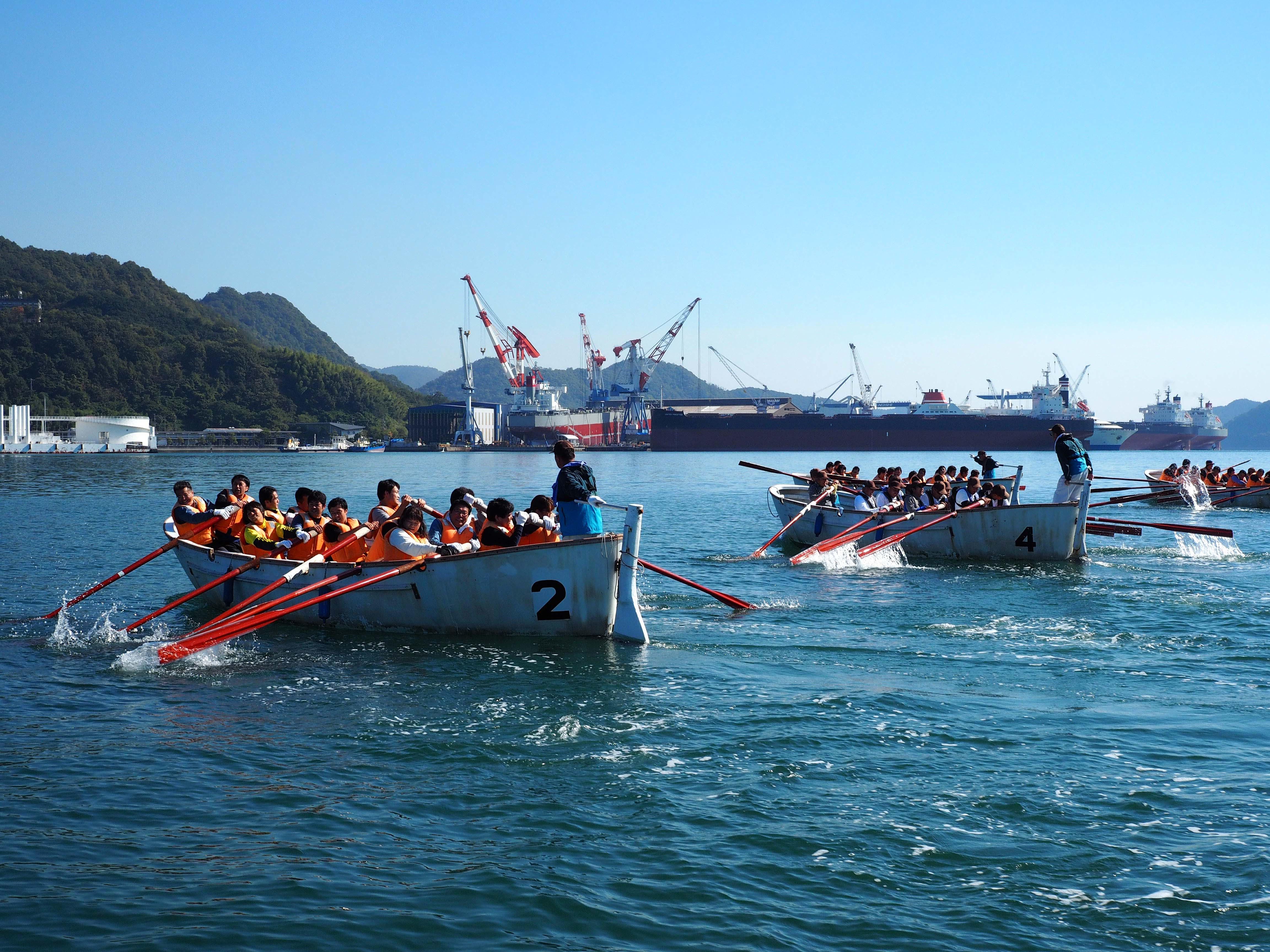 「自然に親しみ自然に学ぶ」カッターボート訓練会で知識と団結を高める!ツネイシヒューマンサービス