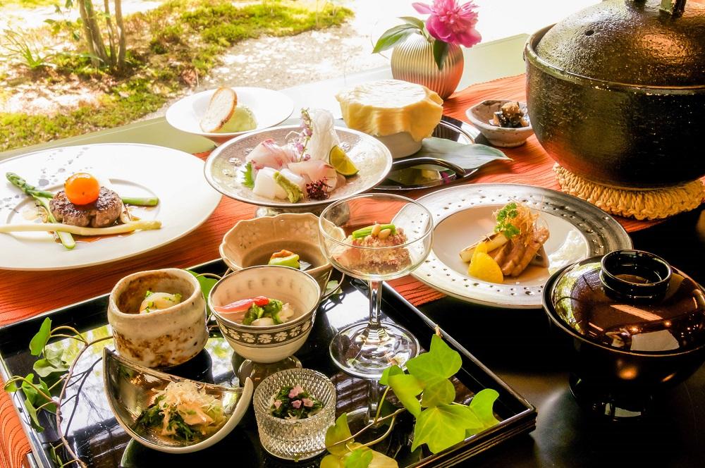 若葉の香りいっぱいの潮風に包まれて過ごす日本遺産の地…ベラビスタ境ガ浜「双忘」皐月の献立