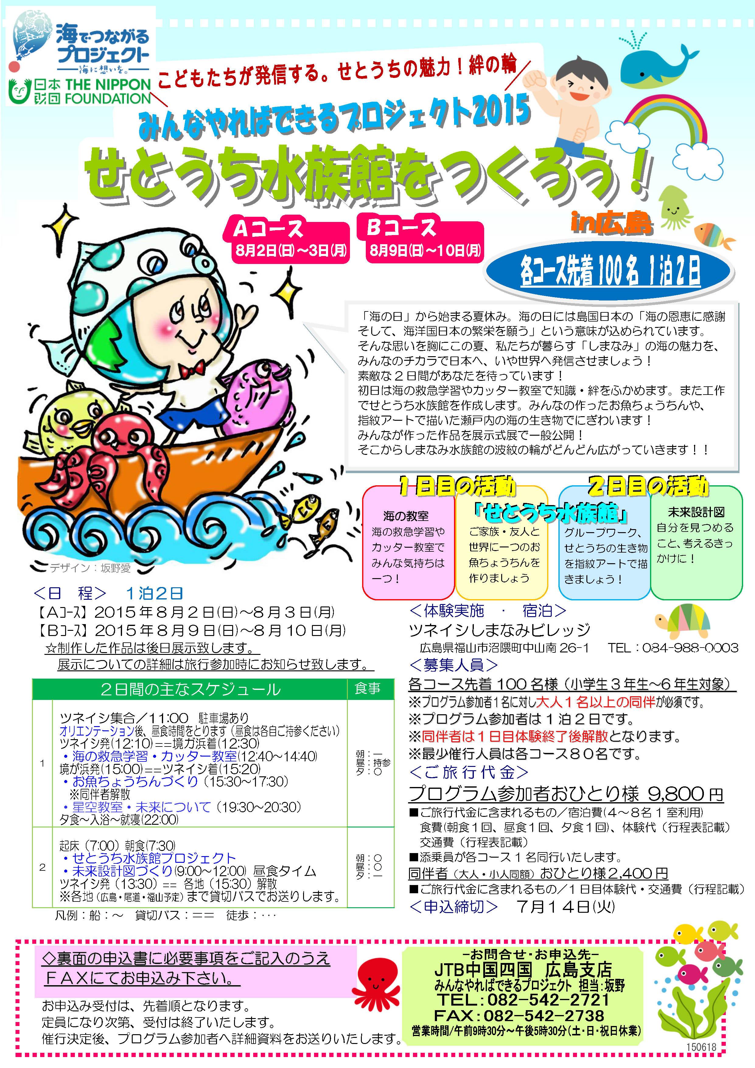 みんなでやればできるプロジェクト2015「せとうち水族館をつくろう!in広島」
