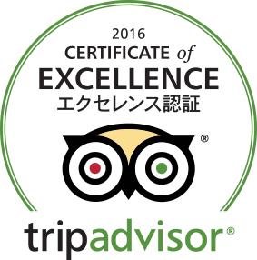 最高の旅行を提供した宿泊施設、観光名所、レストランに授与される Certificate of Excellence (エクセレンス認証)