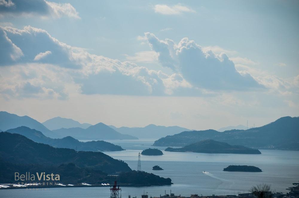 多島美が美しい瀬戸内海の眺望