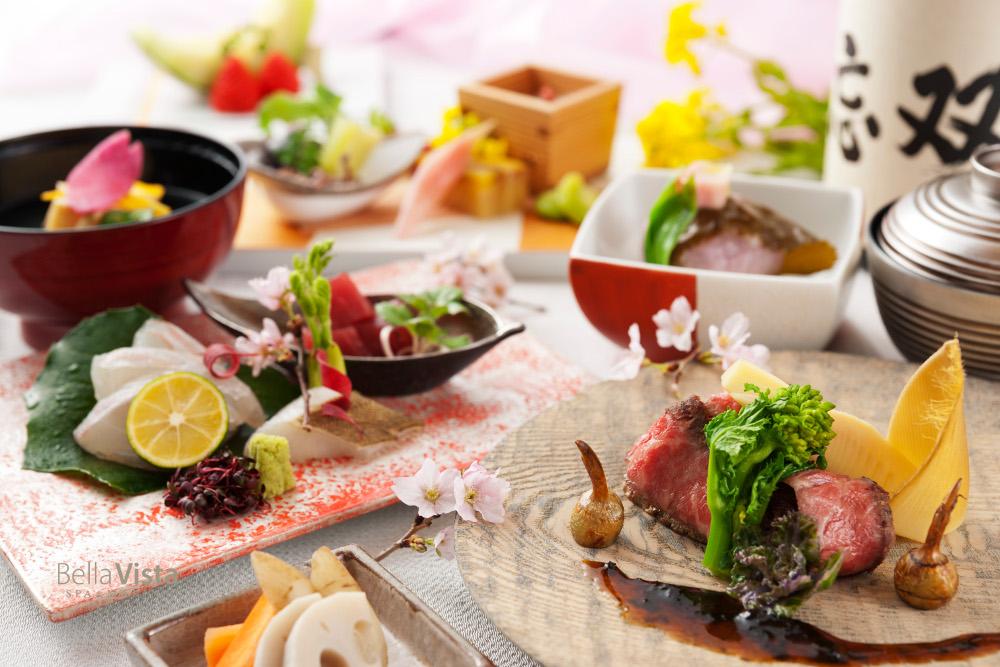 桜色に染まる瀬戸内の口福。雅な春を彩るベラビスタ春の花見ランチと旬彩弁当、予約受付中!