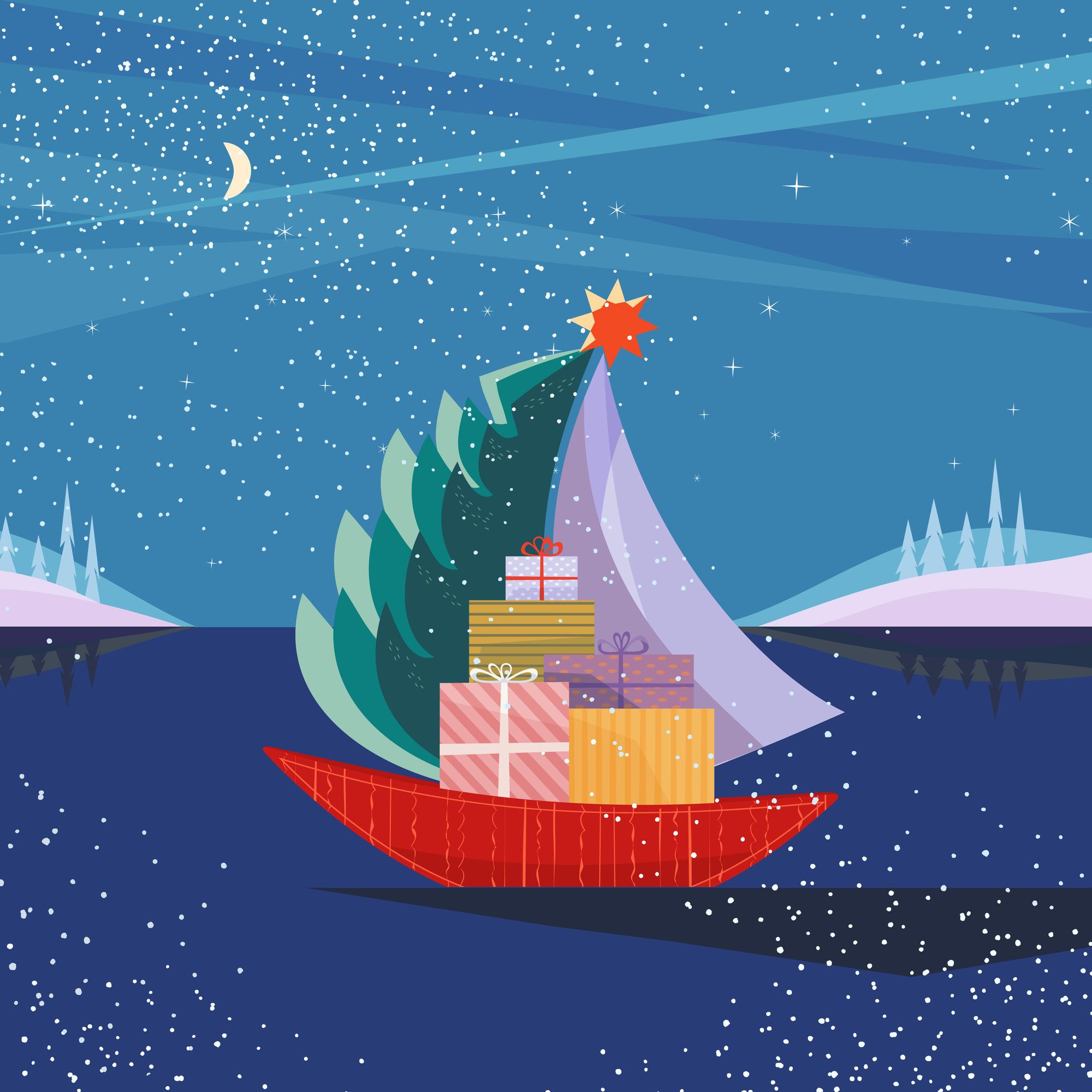 斬新なスタイルが感動を誘う Christmastree on the boat(イメージ)